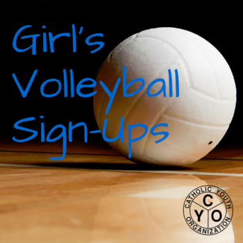 CYO Girls Volleyball Sign-Up 2016