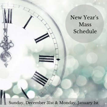 New Year's Mass Schedule