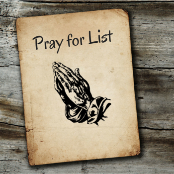Pray For List