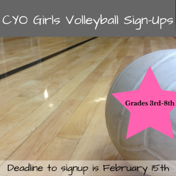 CYO Girls Volleyball Sign-Ups