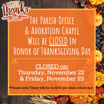 Closed for the Thanksgiving Holiday