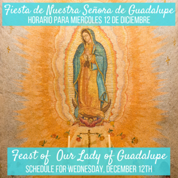 Our Lady of Guadalupe Schedule
