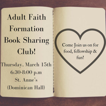 Adult Faith Formation Book Sharing Club!