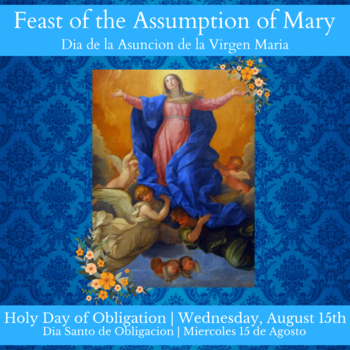 The Feast of the Assumption  <div>   of Mary (Holy Day of Obligation) </div>