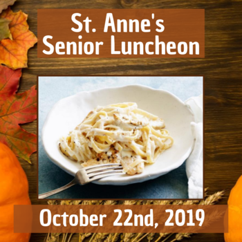 St. Anne's Seniors October Luncheon