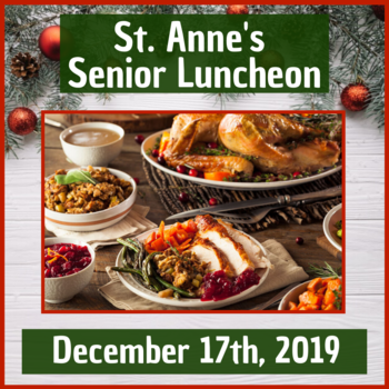 St. Anne's Senior Luncheon for December