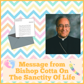Message from Bishop Cotta On The Sanctity Of Life