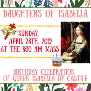 Daughters of Isabella Birthday Celebration