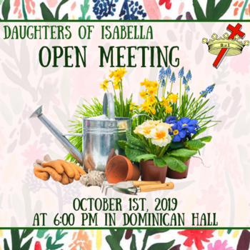Daughter's of Isabella Open Meeting