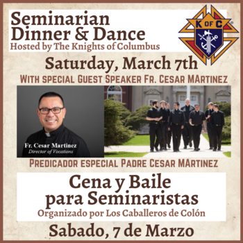 Seminarian Dinner & Dance -Knights of Columbus