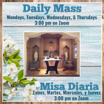 Daily Mass in St. Anne's Chapel via Zoom