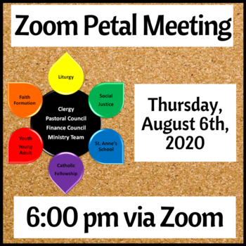 August Zoom Petal Meeting