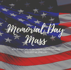 Memorial Day Mass with Bishop Cotta