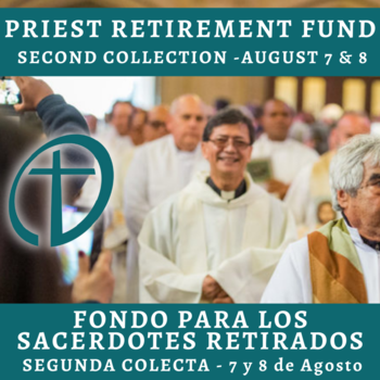 Priest Retirement Second Collection - August 7 & 8