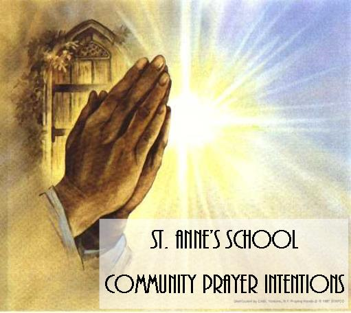 Prayer Intentions: St. Anne's School Students