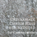 2018 Chrism Mass rescheduled