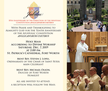 10th Anniversary of the Publication of the Apostolic Constitution Anglicanorum Coetibus