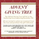 Advent Giving Tree