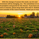 Pumpkins and Gourds Needed
