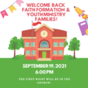 Welcome Back Faith Formation and Youth Ministry