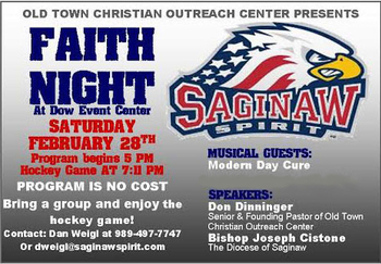 Saginaw Spirit Faith Night