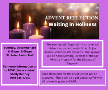 Advent Reflection (formerly the Advent Tea)