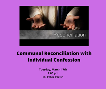 Communal Reconciliation with Individual Confession