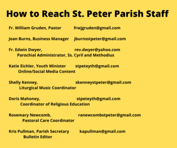 Parish Offices have Gone Online!
