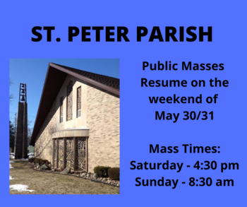 Public Masses Resume This Weekend!