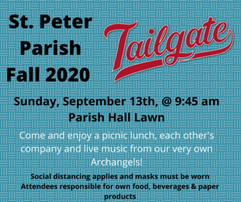 St. Peter Parish Fall 2020 Tailgate