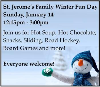 Save the Date! Family Winter Fun Day on January 14!