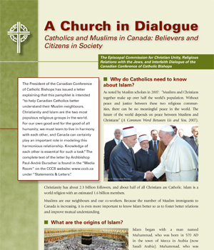 A Church in Dialogue Catholics and Muslims in Canada: Believers and Citizens in Society