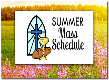 Summer Mass Schedule at St. Jerome's