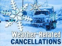 Storm Cancellations- No Grade 2 Religious Ed or Evening Prayer or Bible Study Groups