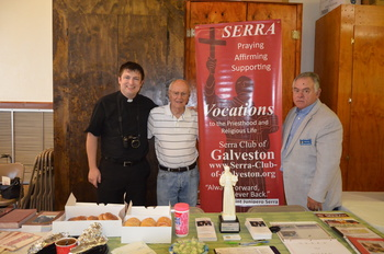 The Serra Club of Galveston recently participated in the Holy Family Parish Stewardship Fair.