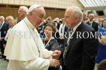 Kurt Metyko Meets the Pope