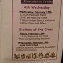 Ash Wednesday Schedule