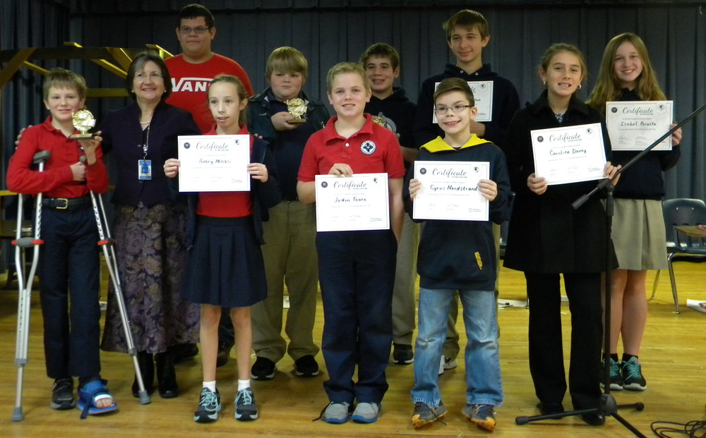 Geography Bee Participants and Winners