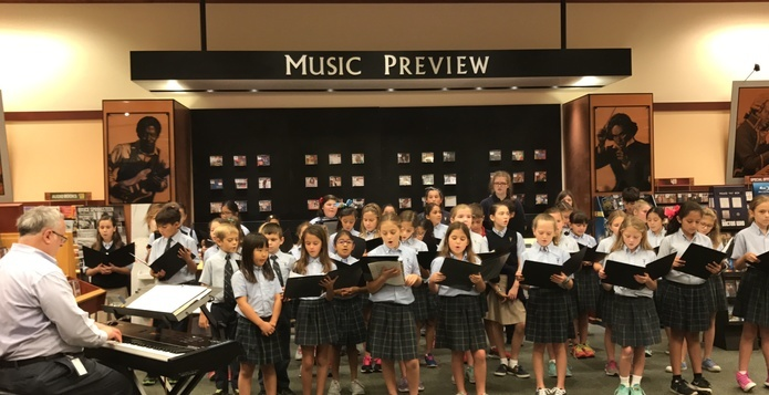 2016 Choir at Barnes & Noble for Book Fair, November 9, 2016