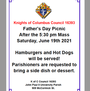Knight's of Columbus Father's Day Picnic