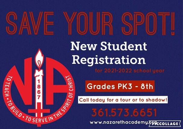 Call today if your child would like to shadow or tour. 361.573.6651.