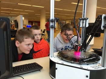Accelerated Math Students visit MakerSpace
