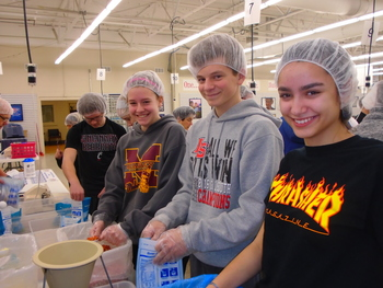 8th Grade Service Project - Hands Against Hunger