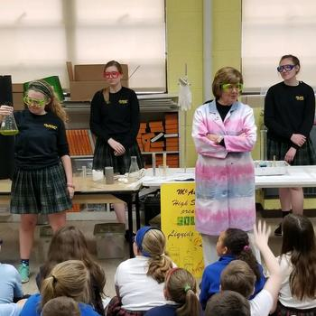 "McAuley High School's ""Traveling Science Show"" visits 5th Grade"