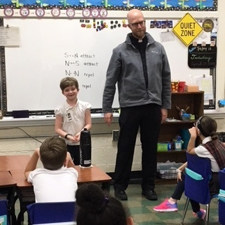Father Kyle Visits 2nd Grade