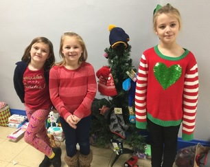 First Grade Christmas Service Project
