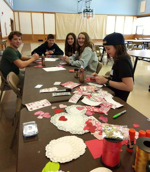 Valentine Making for Westridge