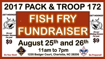 Boy Scout Fish Fry - Aug 25 & 26 $9 a plate