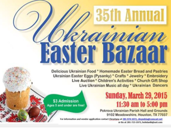 Easter Bazaar- click for more info