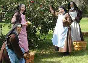 Picking apples at Carmel of Mary